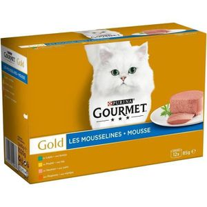 Un produit acheté = le second ? -70% - GOURMET Gold Coffret Les mousselines - Pour chat adulte - 12x85 g