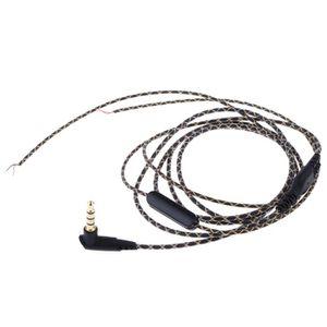 Câble - connectique GPS Câble audio 3,5 mm diy avec microphone avec rempla