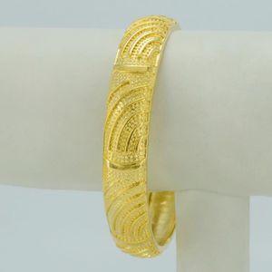 BRACELET - GOURMETTE gros Dubai bracelet femmes bijoux 18k jaune plaqué e8187e3d6df