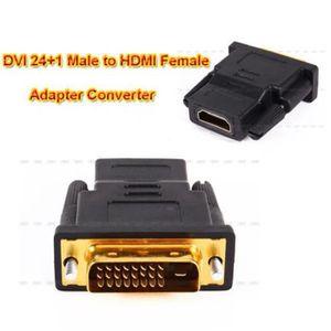 CÂBLE AUDIO VIDÉO Adaptateur Convertisseur Connecteur DVI 24 + 1 Pin