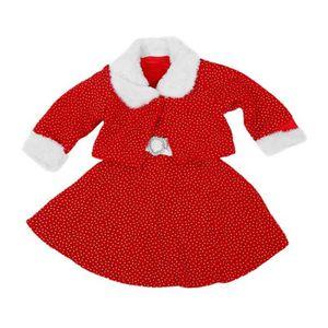 179fe8f5861dd MANTEAU - CABAN 2PCs Robe d hiver pour fille avec collier de fourr