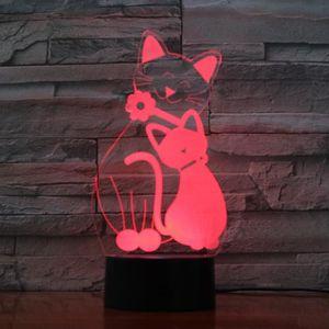 LAMPE A POSER Chat Tactile 3d Petite Lumière de Nuit Acrylique 3