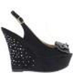 aae642f6f44963 SANDALE - NU-PIEDS Sandales compensées noires talon de 13cm et platef