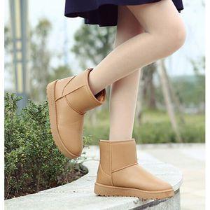 BOTTINE Boots imperméables en cuir femmes Boots de neige