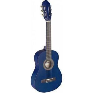 pack guitare classique 1-4 pour enfant 4-7ans avec 5 accessoires bleu