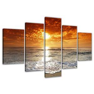 TABLEAU - TOILE 200 x 100 cm impression sur toile plage 6311-SCT p