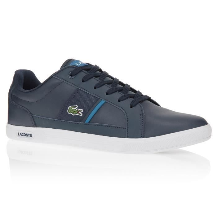 ef4f69d7ef LACOSTE Baskets Europa Chaussures Homme Marine - Achat / Vente ...