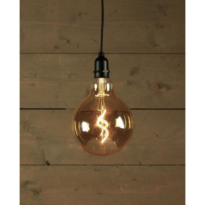 Ampoule LED d'extérieur BOT Retro - Ø15 x 20 cm - 4 piles AA