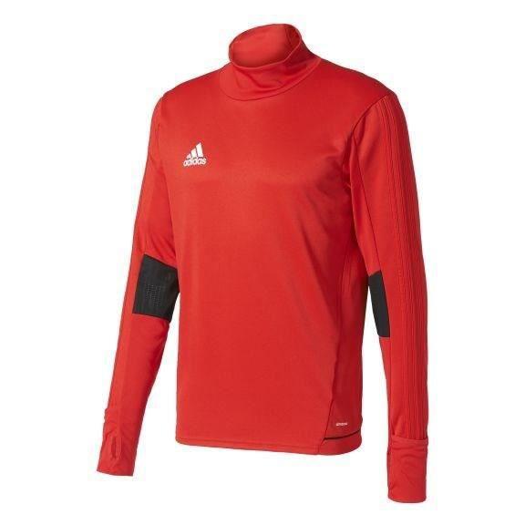 ADIDAS T-shirt d'entrainement manches longues Tiro 17 - Homme -Rougeet Noir et Blanc