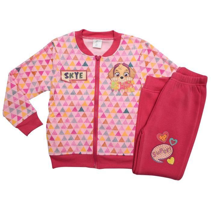 PAT'PATROUILLE Survêtement avec gilet zippé Fuchsia Enfant Fille