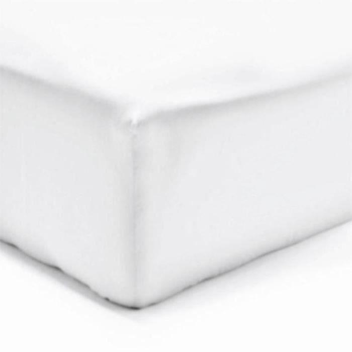 DRAP HOUSSE 140 x 190 cm BLANC VERITABLE
