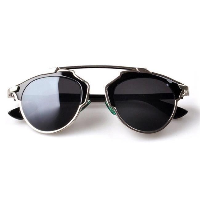 Lunettes So Real Noir Argent - Achat   Vente lunettes de soleil ... d786ed25f393