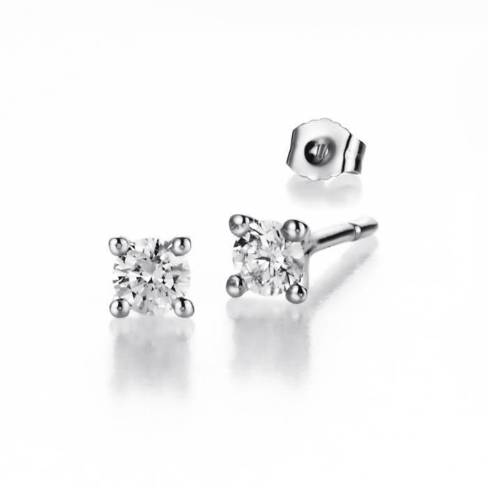Boucles doreilles CLEOR Or 375/1000 Diamants 0,6 ct