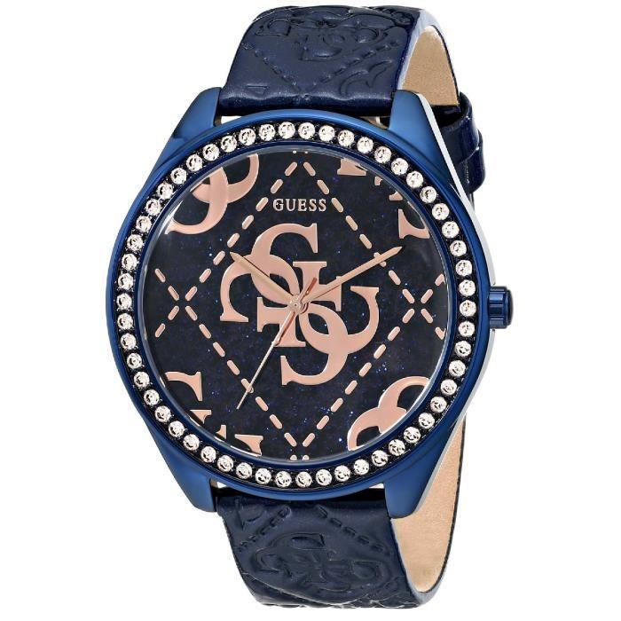 d7699e1544 Guess U0473L1 Iconic Blue & Women Rose Gold-Tone Montre Avec Bleu Connexion