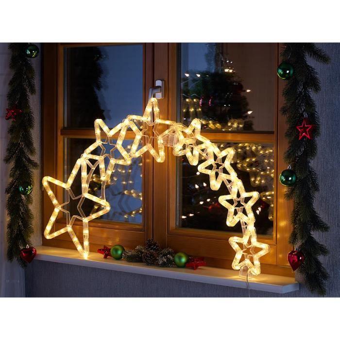 GUIRLANDE DE NOËL Lunartec décoration de Noël ''filament d'étoiles''