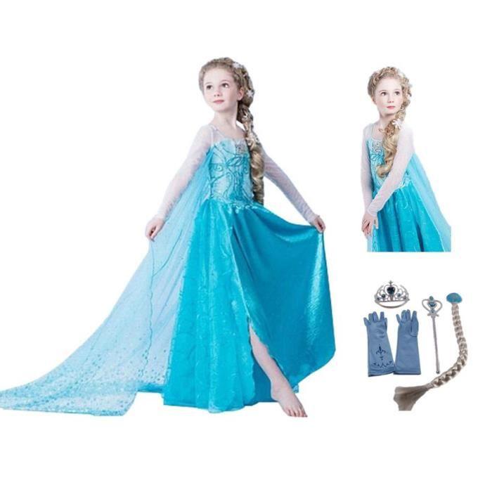 Robe fille reine des neiges
