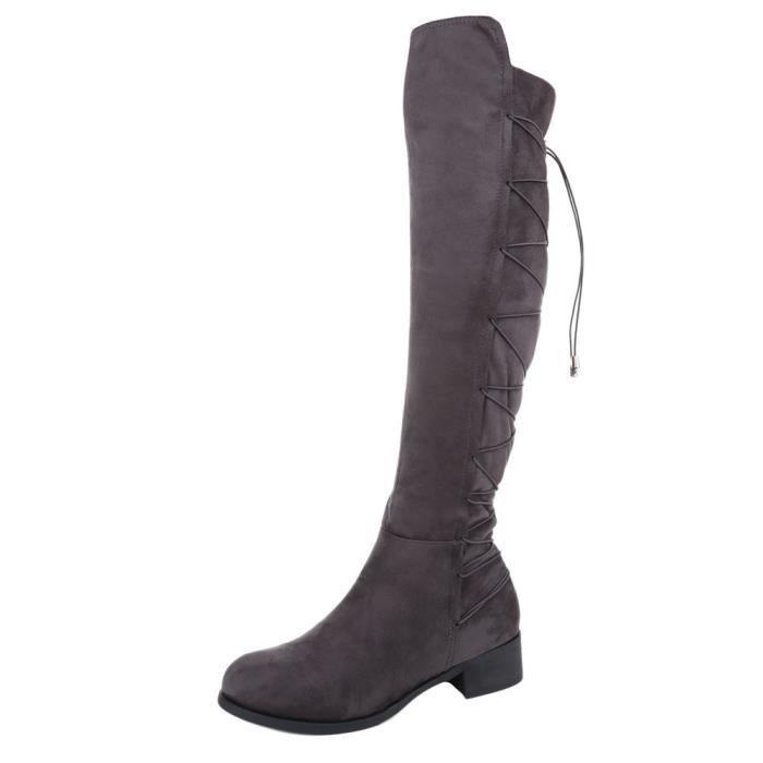 femme botte chaussure bottes overknees