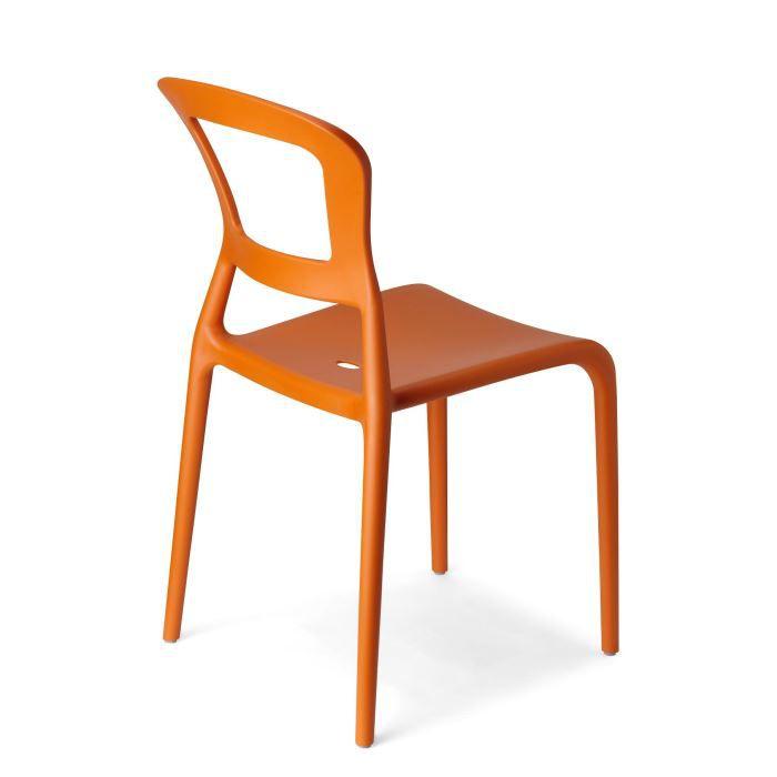 6 chaises oranges design pepper lot de 6 dco - Chaise Orange