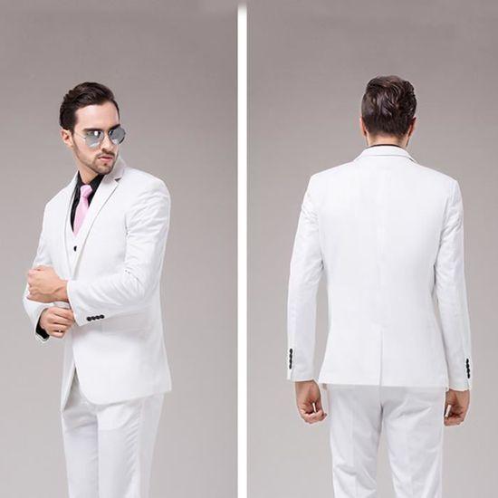 Homme Unique Veste Svelte Trois De Noir blanc xxl Pieces Costume Bouton M0423 UwxCEHqx