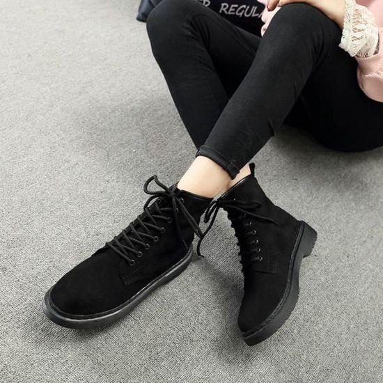Femme épais Plat Plateforme Mesdames 134 Automne Hiver Chaussures à Lacets Bottes Talon bottes qpUzMSV