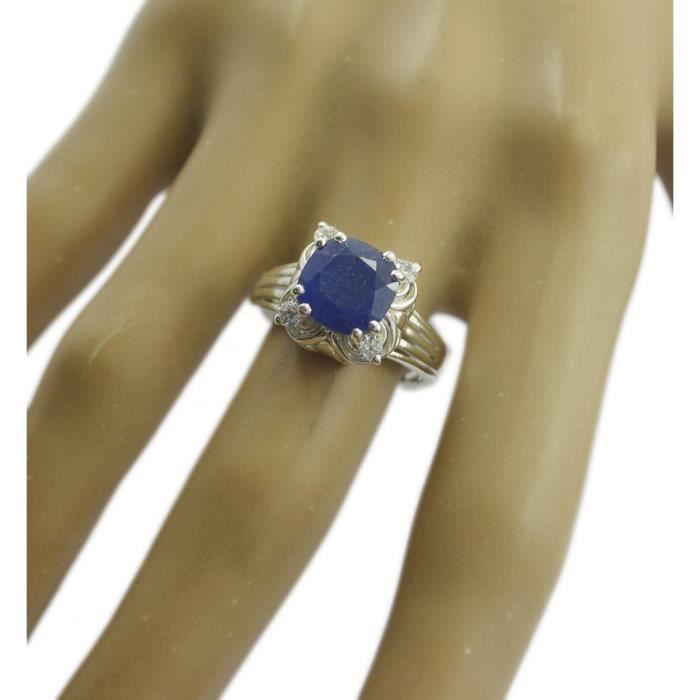 anneau bleu shappire cz - anneau bleu - bague en argent - bague en argent bleu