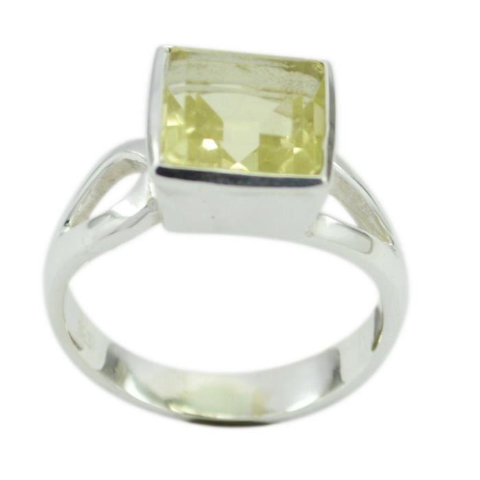 anneau de quartz citron - anneau jaune - bague en argent - anneau dargent jaune