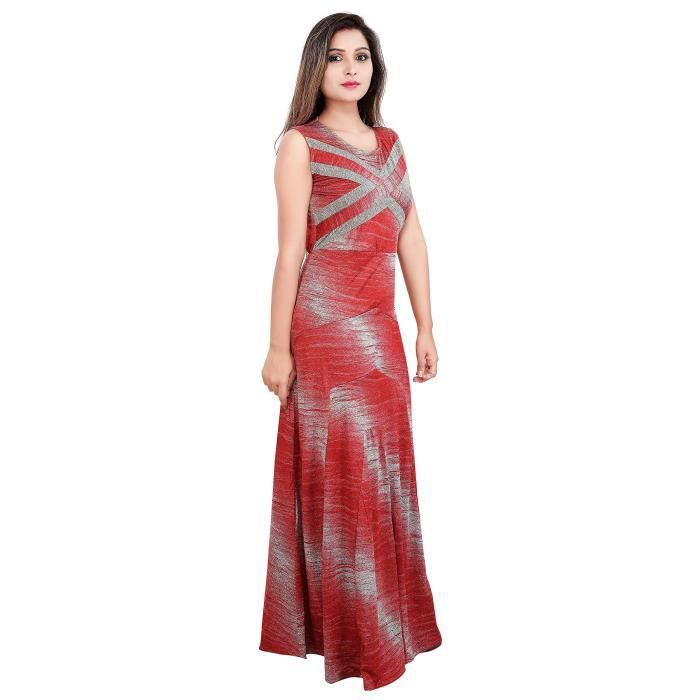 Carrel Womens Stretchable Lycra Fabric Long Dress(agspl-3596) KDY54 Taille-M