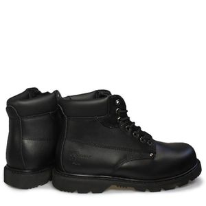 Grafters Padded Homme Noir Cuir Safety Botte EtMEZY