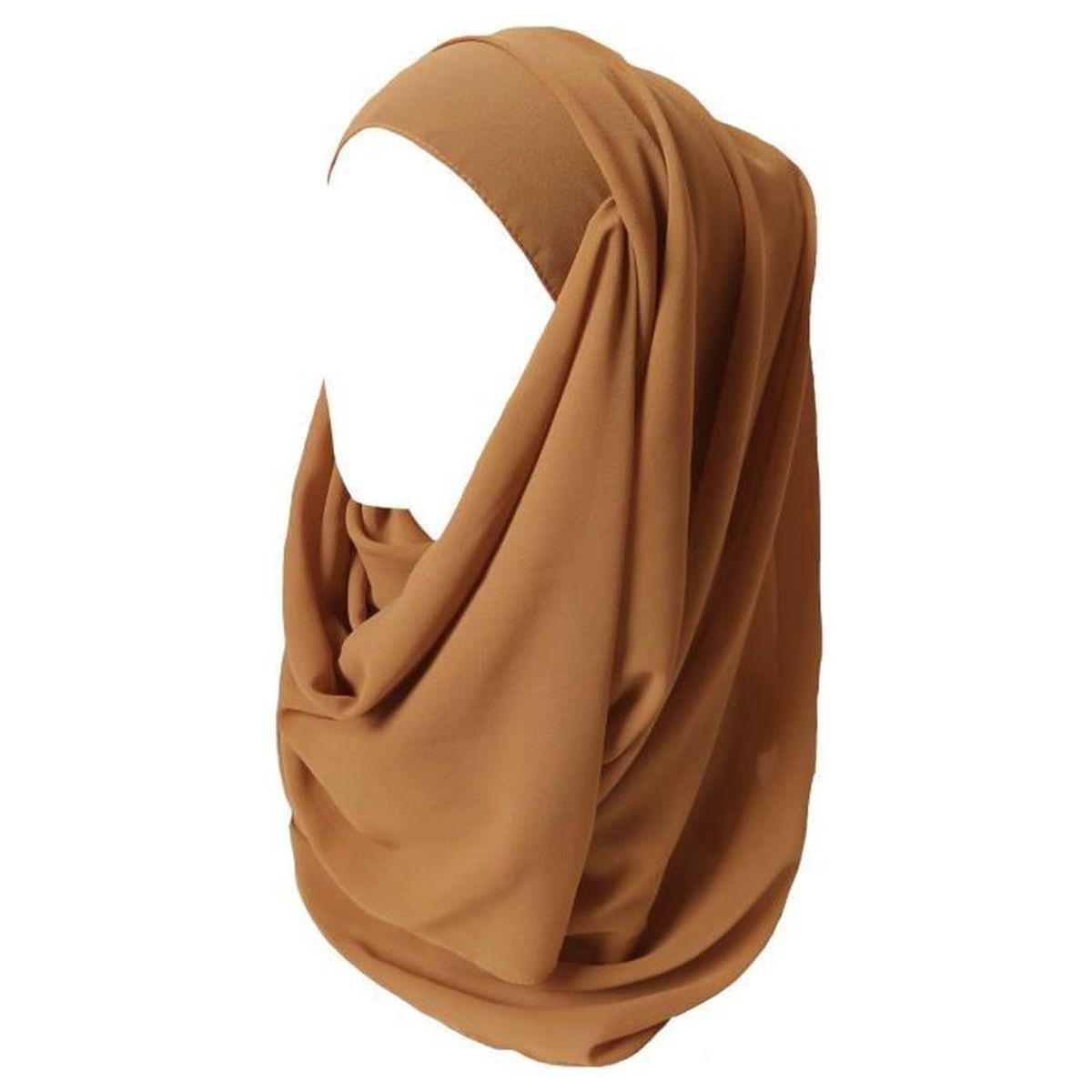 Hijab pour Femmes Mousseline Foulard Écharpe Turban Châle Islamique-Copper 899633e57e9