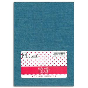 MLLE TOGA Tissu jeans thermocollant A5 - bleu clair