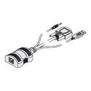 CÂBLE INFORMATIQUE Adder CATx - Câble clavier / vidéo / souris (KVM)…