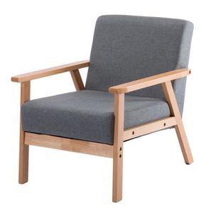 CHAISE DE BUREAU JKK Fauteuil de salon-Chaise longue en tissu coton