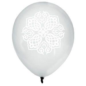 BALLON DÉCORATIF  8 Ballons Mariage Oriental argent