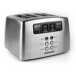 GRILLE-PAIN - TOASTER CUISINART Toaster motorisé CPT440E - 4 Tranches -
