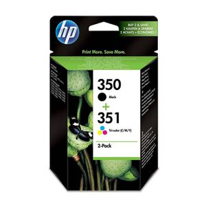 CARTOUCHE IMPRIMANTE HP 350-351 Pack de 2 Cartouches d'Encre Noir et Tr