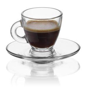 SERVICE À THÉ - CAFÉ RECEPTION Lot de 6 Tasses à café 9cl en Verre Capr