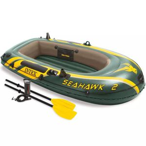 JEUX DE PISCINE Set bateau gonflable avec rames + pompe Intex Seah