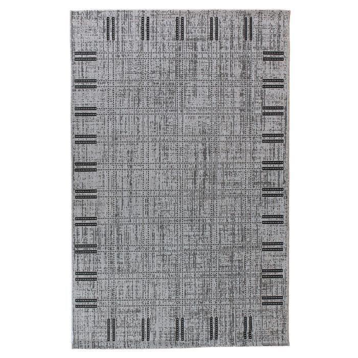 TAPIS FLOORLUXE Tapis de salon tissé plat gris 120x170 c