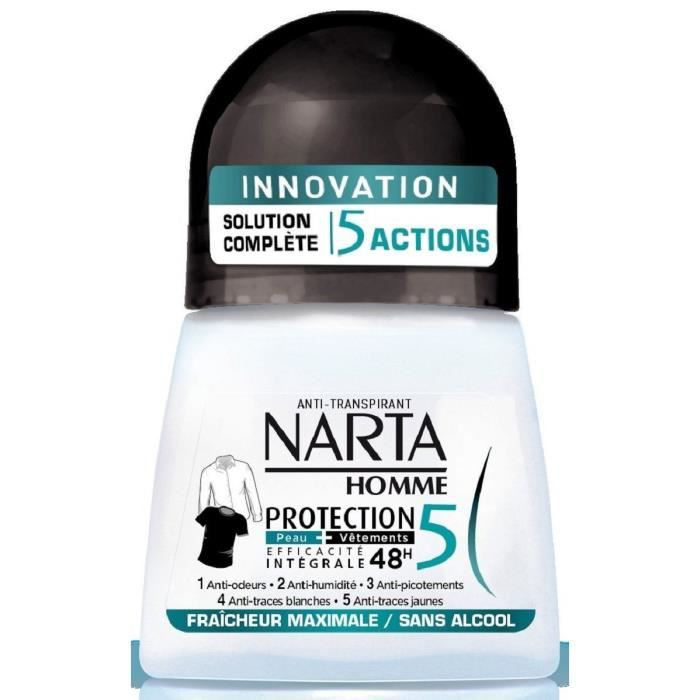 NARTA Homme Déodorant Protection 5 Bille - 50 ml