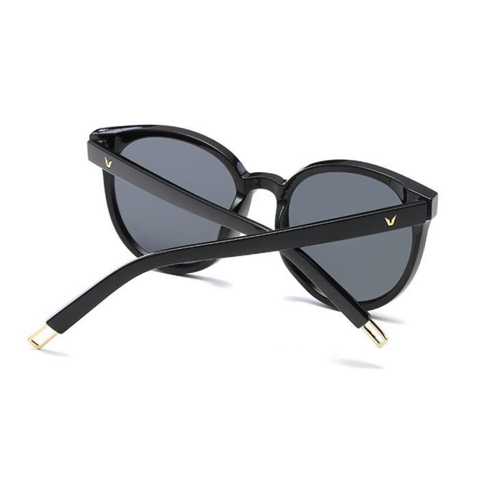 haut de gamme véritable super promotions boutique officielle Lunettes de soleil femme polarisées Fashion Moderne Armature sunglasses  marque de Luxe Marron/Noir