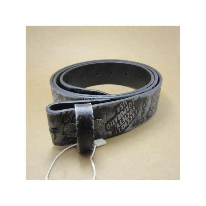 5bf42a5eff5 L 115cm ceinture en cuir véritable noir gris gravé homme femme ...