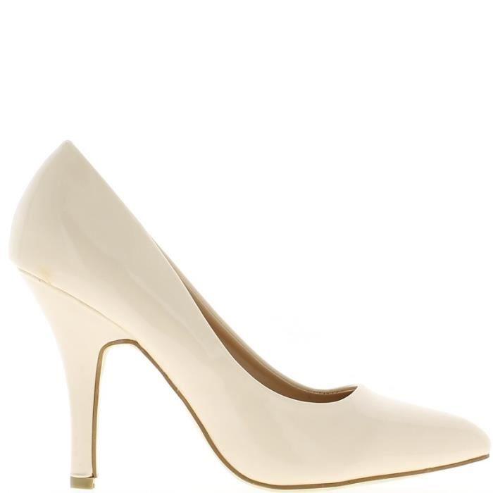 Escarpins beiges à talon de 10cm… v9P75lG
