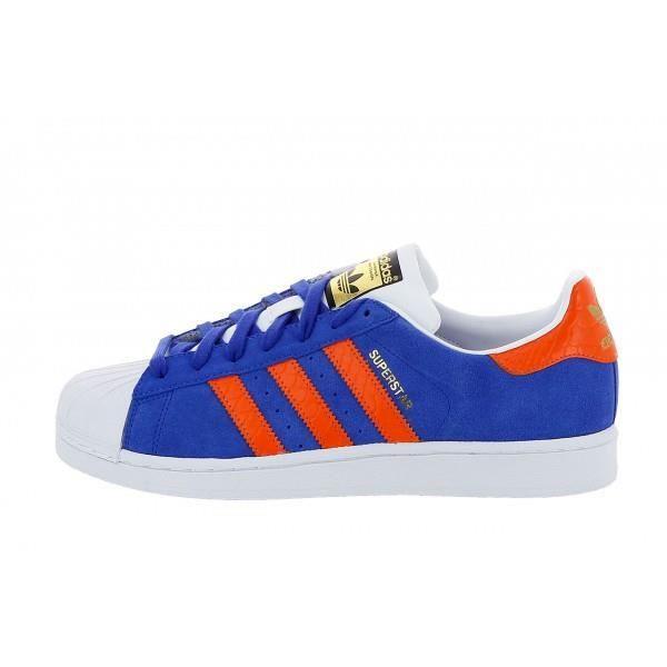 basket adidas bleu orange