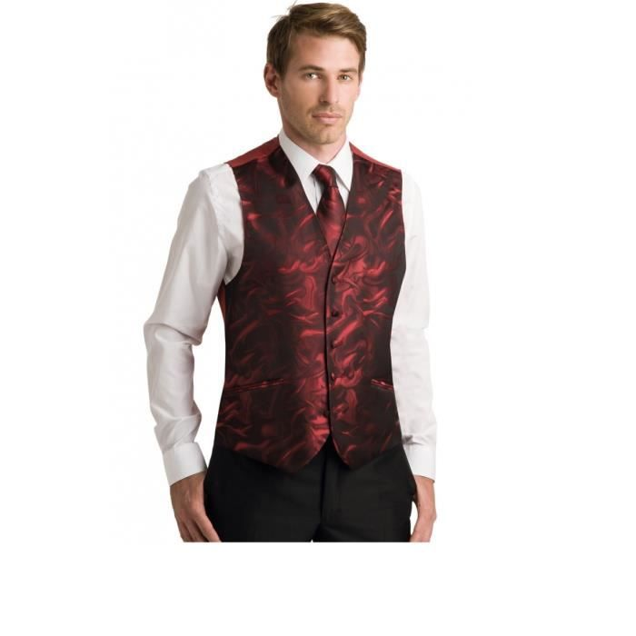 Gilet Costume Homme motifs col V 4 boutons 6 co... Ivoire - Achat ... 49aa1f23fa8