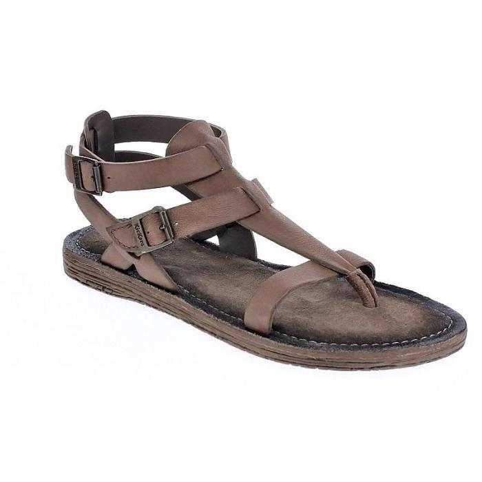 Chaussures Kickers Femme Sandales modèle Anselme Marron