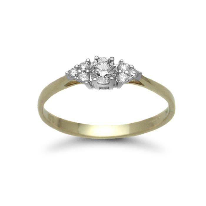 Jewelco London Dames Or Jaune 9k 0.31ct Diamant engagement bague