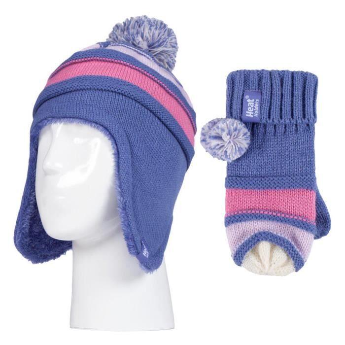 92548c5ebcb ... gants avec pompon. GANT - MITAINE Heat Holders - Enfant fille polaire  chaud hiver en