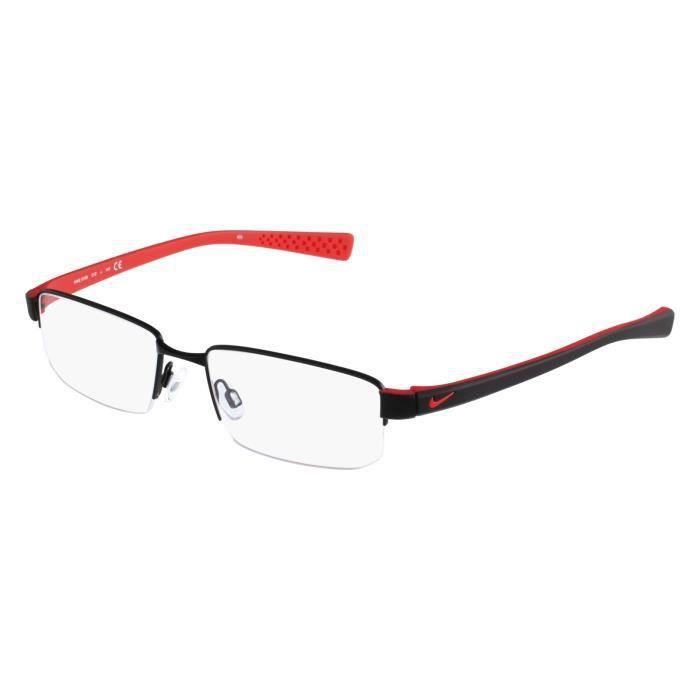 c7c4d2ed676208 Lunettes de vue Nike 8160-12 Noir mat - Rouge Noir, Rouge - Achat ...