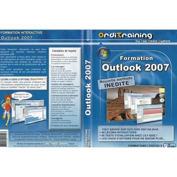 Formation Interactive Outlook 2007 Prix Pas Cher Cdiscount