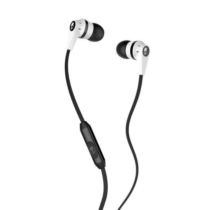 Skullcandy Écouteurs Intra-auriculaires Ink'd 2.0 - Avec Micro Noir Et Blanc